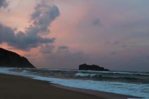 白兎海岸 夕日