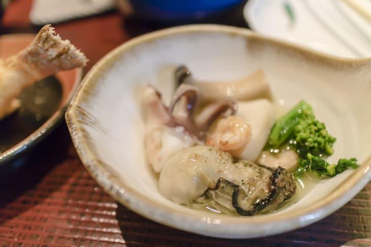尾道 あかとら アヒージョ 牡蠣