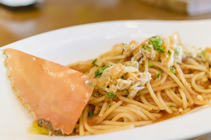 ソーフーカフェ 渡り蟹とトマトのスパゲティ