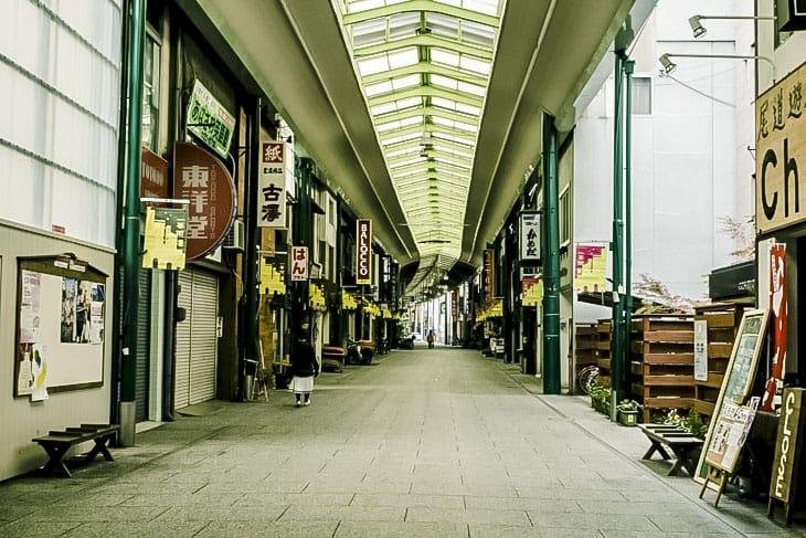 尾道商店街 朝