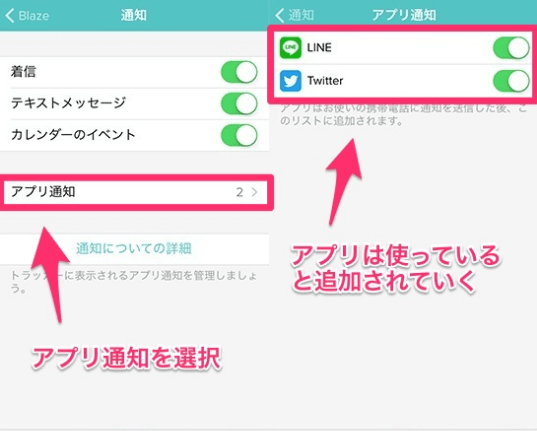 fitbit アプリ設定