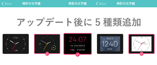 Fitbit文字盤