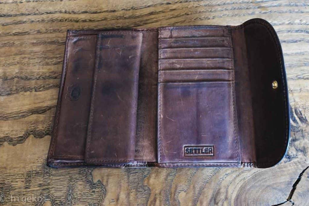 セトラー財布 エイジング