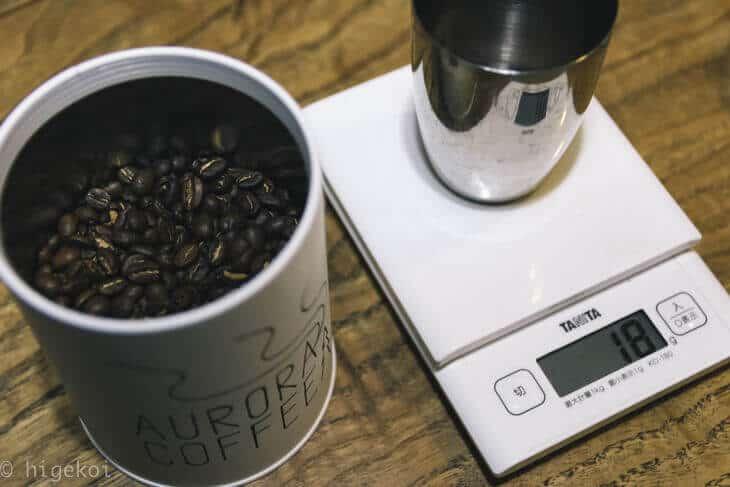 フレンチプレスホットコーヒー
