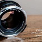 Voigtlander NOKTON CLASSIC 40mm F1.4 S.C